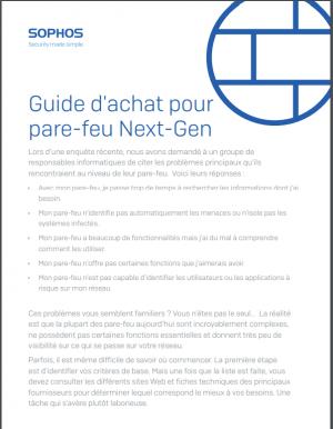 Guide d'achat pour pare-feu Next-Gen