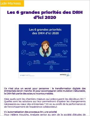 Rapport d'�tude - Les 6 grandes priorit�s des DRH d'ici 2020