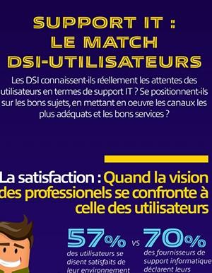 Infographie - Support IT : le match DSI / Utilisateurs