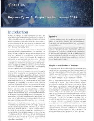 Rapport 2019 : La Réponse autonome face aux cyberattaques