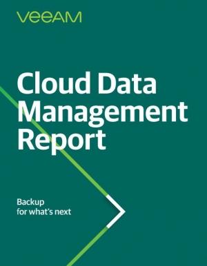Rapport � Cloud Data Management Report � : 1 575 d�cideurs IT t�moignent �