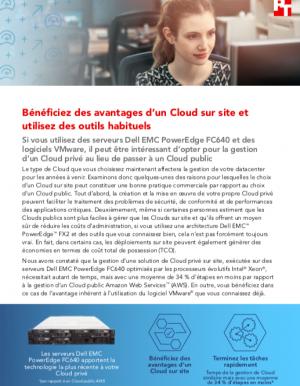 Cloud sur site ou cloud public�: comment faire le bon choix�?