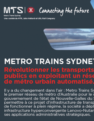 Metro Trains Sydney choisit Lenovo pour soutenir le plus grand projet de transport en Australie
