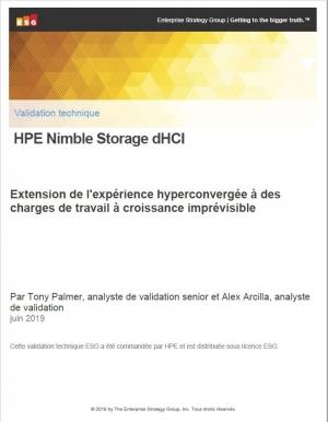 Validation technique : HPE Nimble Storage dHCI pour les charges de travail � croissance impr�visible