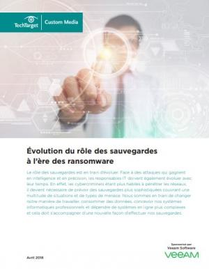 �volution du r�le des sauvegardes � l'�re des ransomware
