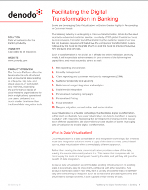 Digitalisation : la virtualisation de données et le secteur bancaire