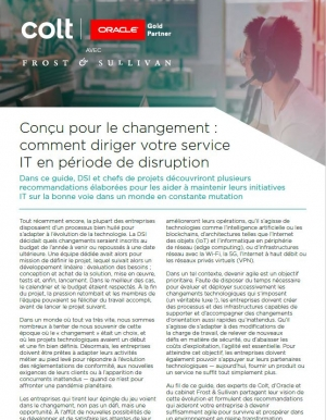 Conçu pour le changement : comment diriger votre service IT en période de disruption