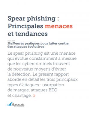 Rapport Spear phishing : principales menaces et tendances