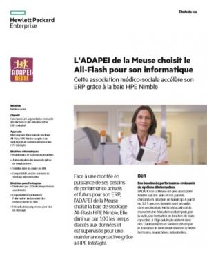 L'ADAPEI de la Meuse choisit le All-Flash pour son informatique