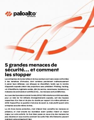 5 grandes menaces de sécurité... et comment les stopper