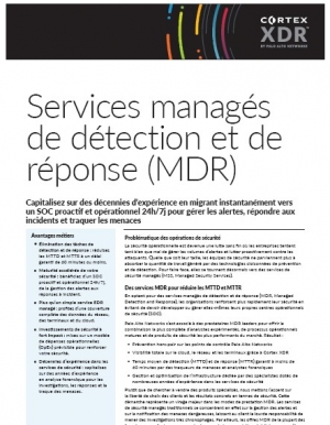 Services managés de détection et de réponse (MDR)