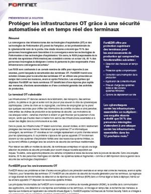 Prot�ger les infras OT gr�ce � une s�curit� automatis�e et en temps r�el des terminaux