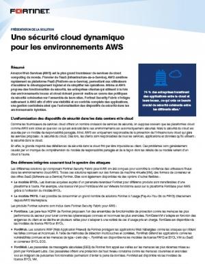 Comment garantir sa s�curit� cloud dynamique pour les environnements AWS ?