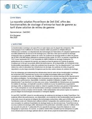Etude IDC : L'�volution des exigences IT en mati�re d'infrastructure et de stockage
