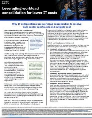 Consolidation : réduire les contraintes et les coûts