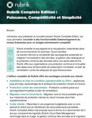 Data Management : quelle solution pour r�ussir sa migration vers le Cloud ?