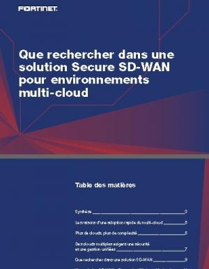 Pourquoi choisir une solution SD-WAN pour son environnement multi-cloud�?