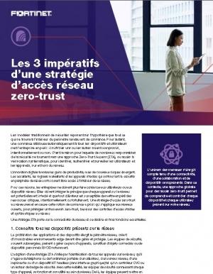 3 crit�res dans la mise en place d'une strat�gie d'acc�s r�seau Zero-Trust