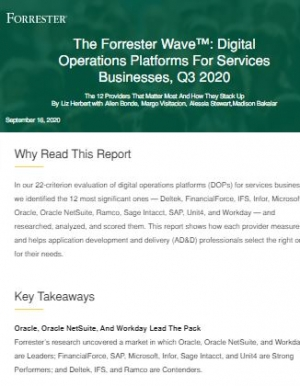 The Forrester WaveTM: Digital Operations Platforms for Services Businesses