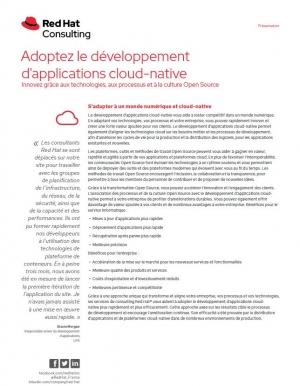 Les avantages du d�veloppement d'application cloud-native et de l'Open Source
