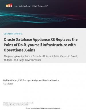 Livre Blanc : Les gains op�rationnels de la solution Oracle Database Appliance X8