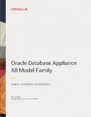 D�couvrir les mod�les de la famille Oracle Database Appliance X8