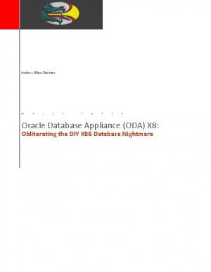 Pourquoi faut-il d�sormais opter pour Oracle Database Appliance X8