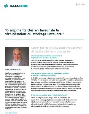 Livre blanc : 10 arguments cl�s en faveur de la virtualisation du stockage