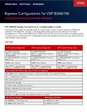 Option de pr�l�vement express VSP E590/790 pour une mise sur le march� plus rapide