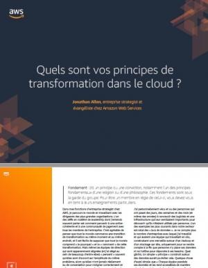 Quels sont vos principes de transformation dans le cloud ?