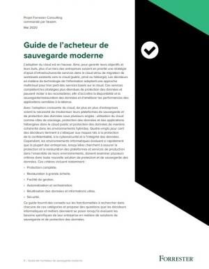 Le guide de l'acheteur de sauvegarde moderne (technique)