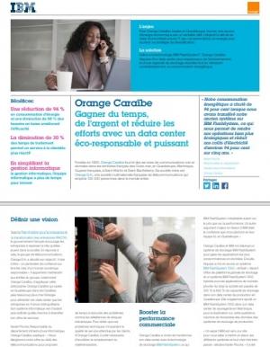 Orange Cara�be r�duit sa consommation �nerg�tique IT avec IBM FlashSystem