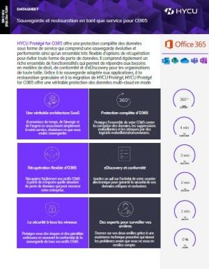 Les avantages des solutions HYCU pour la protection de vos donn�es Office 365
