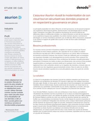 Asurion modernise son cloud et s�curise ses donn�es � l'aide d'une solution logiciel
