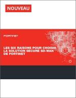 Les six raisons pour choisir la solution Secure SD-WAN de Fortinet.