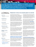 Case study : L'Oréal et l'exploitation de données