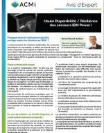 Haute Disponibilité : la résilience des serveurs IBM Power i