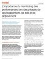 L'importance du monitoring des performances lors des phases de développement, de test et de déploiement