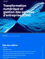 Ebook : transformation numérique et gestion des services d'entreprise (ESM)