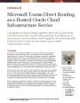 Le routage direct des équipes Microsoft en tant que service hébergé d'infrastructure Oracle Cloud
