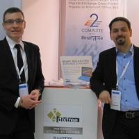 Frédéric Demajean (à gauche), co-fondateur de Dixtree, et Fabrice Barbier, channel manager de Binary Tree en EMEA , durant les Tech Days de Microsoft