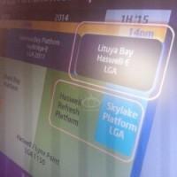 La dernière roadmap d'Intel publiée par le site VR-Zone. Crédit D.R.