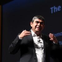 Vishal Sikka, ex-CTO de SAP, pressentie à la direction générale de la SSII indienne Infosys. Crédit D.R.
