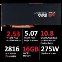 Selon AMD, sa puce graphique FirePro S9150 présente une performance de 2,53 téraflops en pic en double précision.