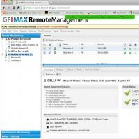 La plateforme de gestion des services managés GFI Max développée par GFI Software se compose des produits RemoteManagement, Mail, ServiceDesk, Backup, et Focus. (Crédit: D.R)