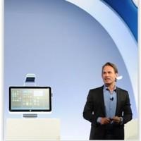 Ron Coughlin, Senior Vice President, Consumer PC & Solutions chez HP, a dévoilé le PC Sprout. (crédit : D.R.)