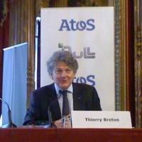 Thierry Breton, PDG d'Atos, lors de l'annonce du rachat de Bull, avait indiqué vouloir faire de son groupe le 1er acteur européen du cloud. (crédit : LMI)