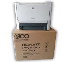 Les imprimantes de LM Eco Production sont livrés dans un emballage mettant en avant le caractère eco-recyclé des produits. Crédit photo : D.R.