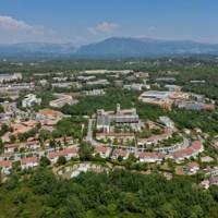 Située sur la commune de Valbonne, la technopôle de Sophia-Antipolis compte aujourd'hui plus de 1 400 entreprises. Crédit : D.R