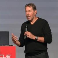 Larry Ellison, président et CTO d'Oracle, a annoncé le lancement de 24 nouveaux services clouds. (crédit : D.R.)